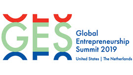 Logo vom Global Entrepreneurship Summit 2019, Schriftzug: GES Global Entrepreneurship Summit 2019 United States / The Netherlands