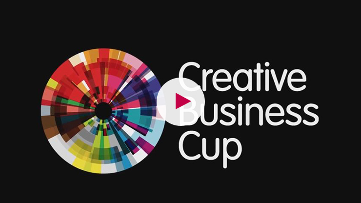 Logo des Creative Business Cups mit Play-Button